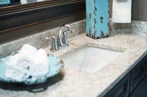 Speckled Brown Granite Bathroom Counters