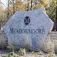 Meadowmoore Stone Slab Sign