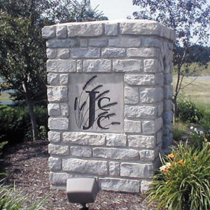 Dimensional Stone Sign