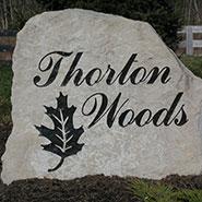 Thorton Woods Stone Slab Sign