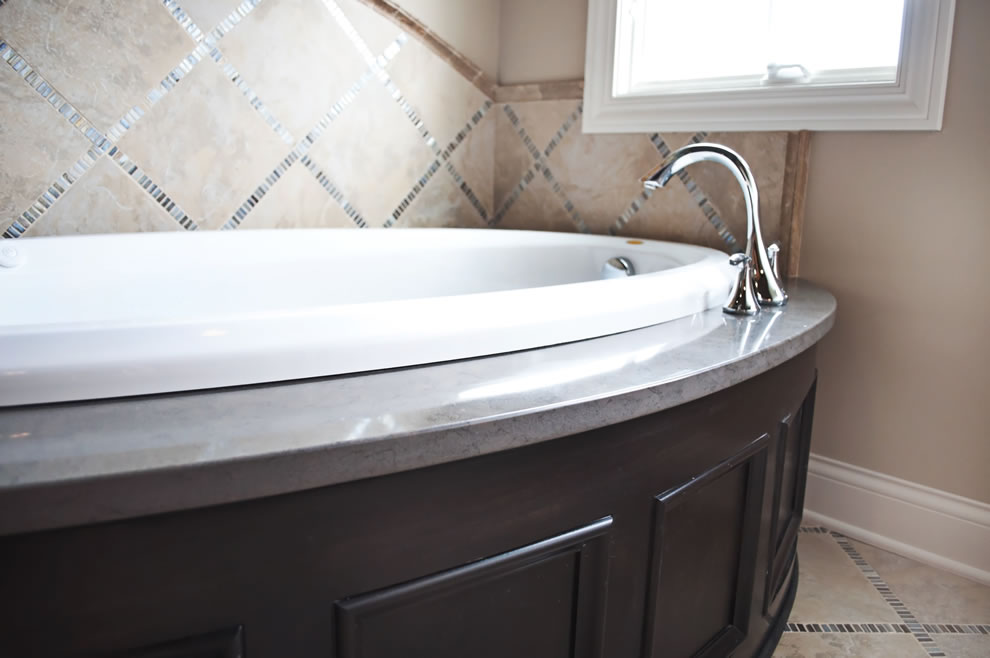 Bathroom Countertops, Shower and Soaking Tub