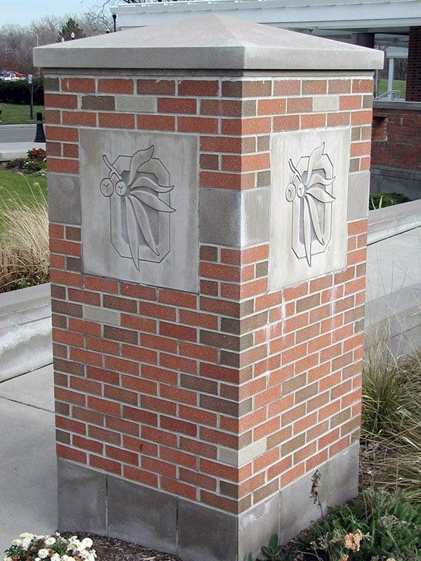 Ohio State Columns Limestone Sign