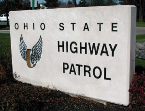 Ohio State Highway Patrol Limestone Sign