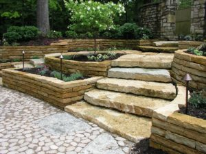 Beaverdam Wallstone Walls and Slab Steps