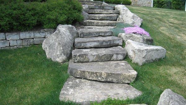 Bluevein Wall and Ottawa Slab Steps