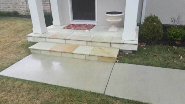 Front Entry Steps and Patio - Churchill Buff