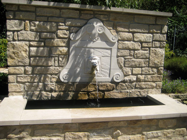Indiana Buff Limestone Pool Coping and Shoreline Buff Veneer