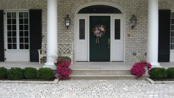 Indiana Limestone Front Entry Flagging Patio