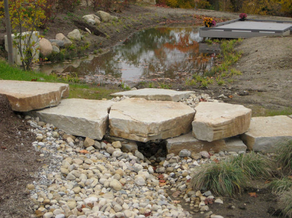 Ottawa Slab Steps and Darby Water Feature