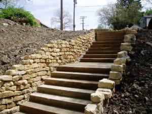 Shoreline Webb Retaining Wall and Sandstone Steps