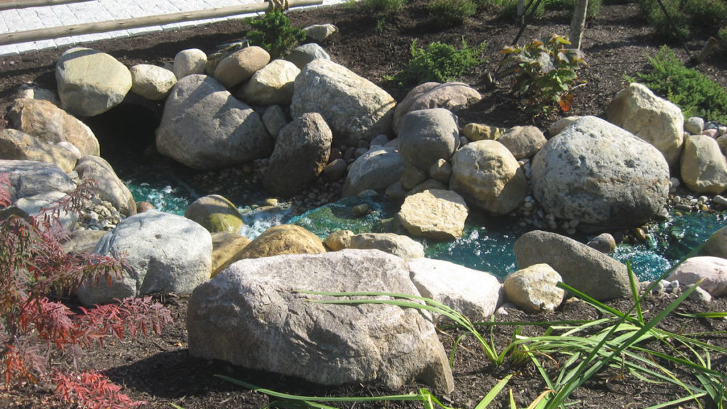 Large Granite Boulders and Stream