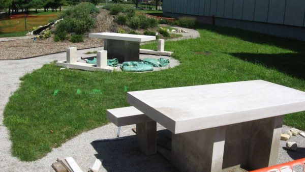 Custom Limestone Bench