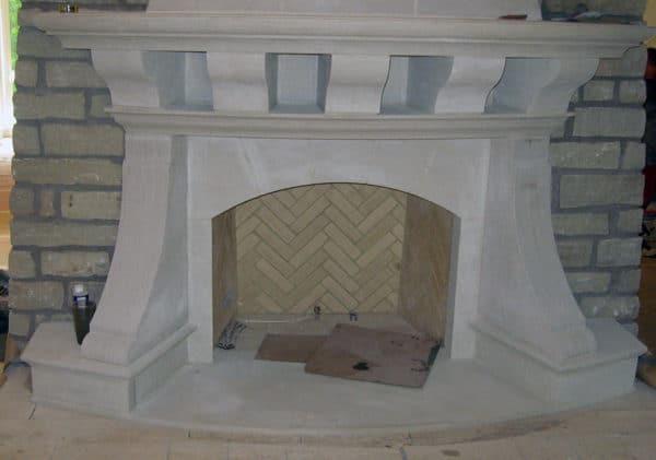 Indiana Buff Limestone Fireplace