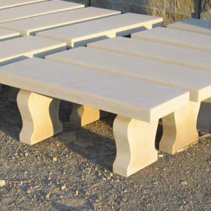 Curved Leg Limestone Bench