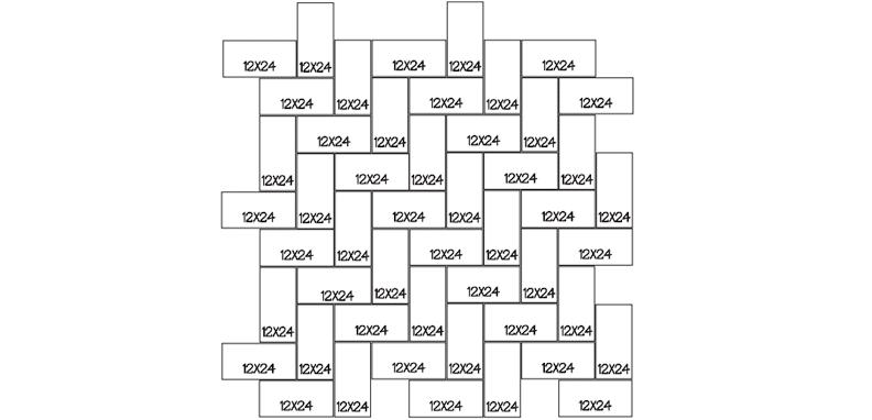 LANG 10 - HERRINGBONE STANDARD 100 Sq. Ft. Repeating Pattern (10' x 10')