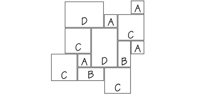 LANG 19 - FRENCH RANDOM PATTERN 100 Sq. Ft. Repeating Pattern (10' x 10')