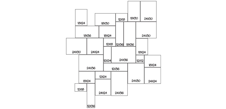 LANG 4 - RANDOM 100 Sq. Ft. Repeating Pattern (10' x 10')