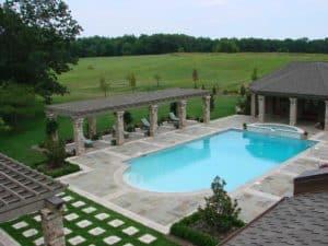 Indiana Limestone Decorative Pool Patio