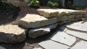 Natural Outcropping Beaverdam Retaining Walls