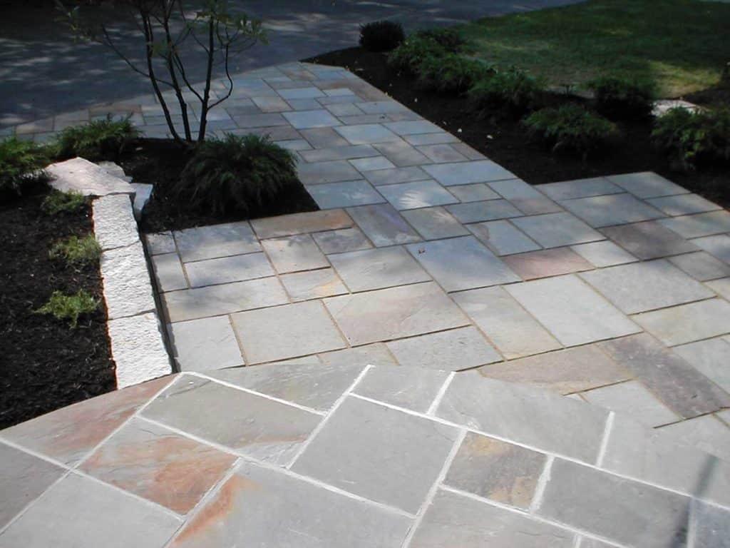 Pattern Flagstone Bluestone Patio and Stairs
